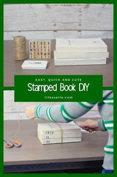 #stackedbooks #homedecor #pinterestproject #farmhouse #DIY